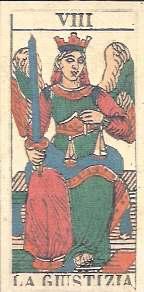Justice Card Dotti Tarot de Marseille