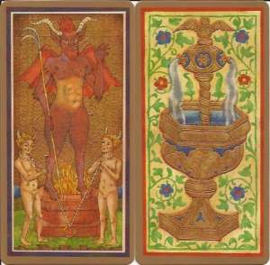 Golden Tarot Devil, Ace Cups
