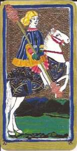 Knight of Wands from Tarot AC Visconti-Sforza deck