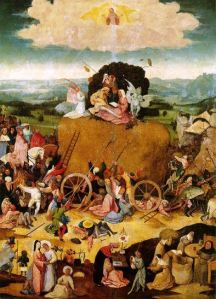The Haywain by Hieronymus Bosch, 1500