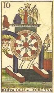 Wheel of Fortune from Tarocchi Vergnano