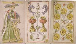 Tarot Sophistique three cards