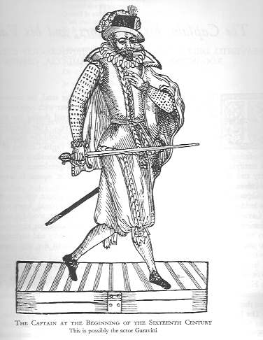 Spanish Captain sixteenth century print