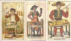 Three bagatto cards
