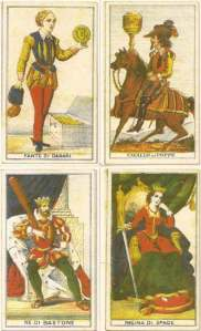 four Perrin court cards