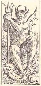 tarocco Bolognese di Mitelli Devil card