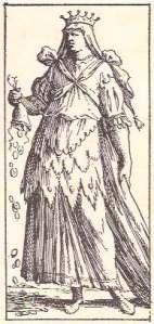 Tarocco Bolognese di Mitelli Queen of Coins