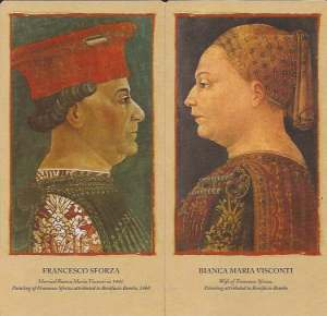 Portraits of Francesco and Bianca Sforza