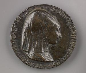 Isotta degli Atti medallion