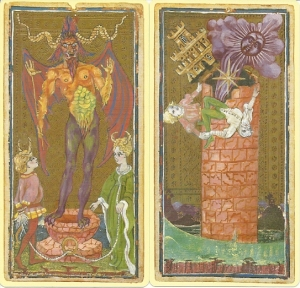 US Games Luigi Scapini Visconti Sforza Devil and Tower cards