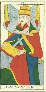 Papesse 1760 Conver Tarot de Marseille