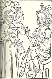 Christ Before Herod Block Print, France 1400