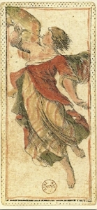 Angel card from Tarocchino Mitelli