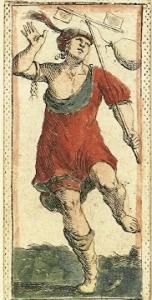 Fool card Mitelli Tarocchino