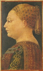 Portrait of Bianca Sforza by Bonifacio Bembo
