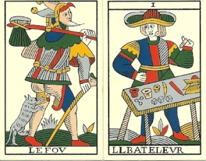 Jean Noblet Tarot Fool and Bateleur