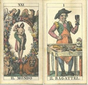 World and Bagatto cards from soprafino deck
