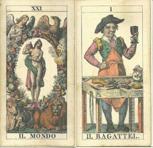 World and Bagatto cards from soprafino deck