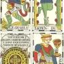 Vandenborre tarot four cards