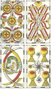 Vandenborre four pip cards
