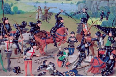 Battle of Agincourt painting