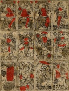 Sheet of unprinted Budapest cards from1500