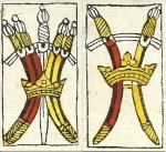 Swords cards from Budapest tarot