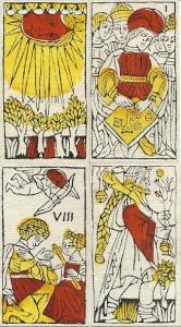 Budapest tarot four trump cards