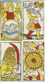 Four cards from the Budapest deck
