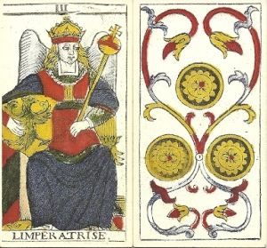 Empress and 3 Coins Madenie Tarot
