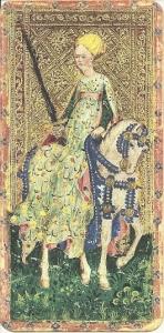 Female Knight of Swords Visconti di Modrone deck