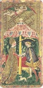 Lovers card Visconti di Modrone deck