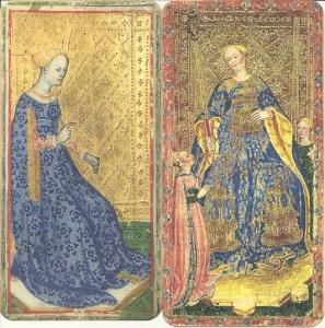Queens of Batons, Visconti di Modrone and Brera-Brambilla decks