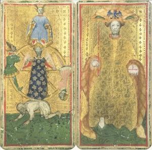 Imperador e Roda da Fortuna, baralho Brera-Brambilla