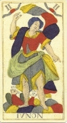 June card from tarocchi di Besancon Miller