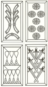 Four Suits from Spanish Moorish deck