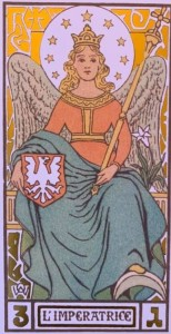 Oswald Wirth tarot Empress card cropped