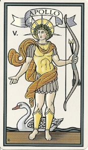 Apollo Card from The Marziano tarot by Robert Place
