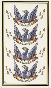 Four of Phoenix from The Marziano Tarot