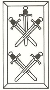 Swords card from fifteenth century deck