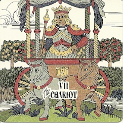 Chariot card from Triadic tarot