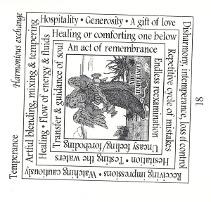 Page from Triadic tarot booklet