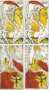 Death and Emperor cards Budapest tarot