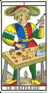 Le bateleur card from the Jodorowsky tarot