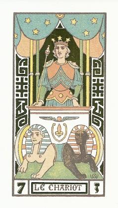 Chariot Card Oswald Wirth Tarot
