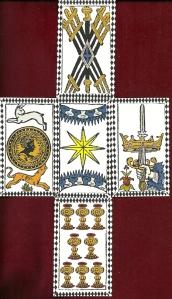 Cross Spread with Tarocchi Rosenwald by Marco Benedetti
