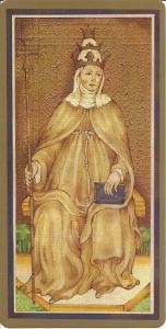 Papessa Card Visconti Sforza deck