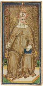 The Popess card Visconti-Sforza deck
