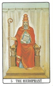 Hierophant, Golden Dawn Tarot