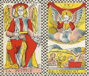 Trump cards from Adam de Hautot tarot